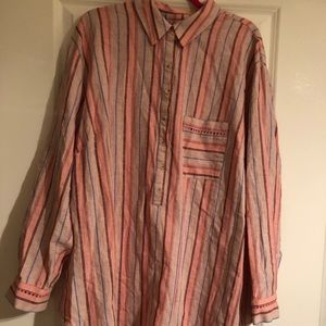 NWT Maeve for Anthro linen/cotton popover tunic 3X